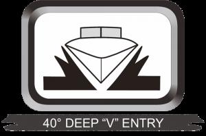 "40° Deep ""V"" Entry"